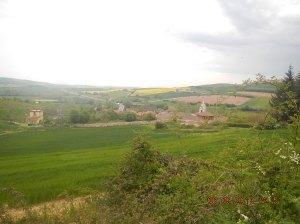 A view of Villafranca de Montes de Oca