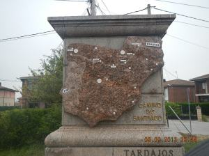 A map of the Camino Francés in Tardajos - the only one of its kind that I saw