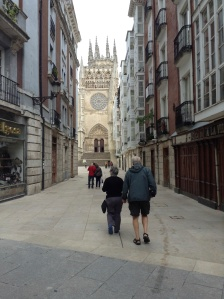Street leading to the Cathedral