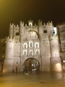 Puerta Santa Maria at Night