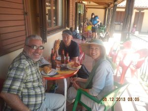 Me, Salvo and Maria having lunch in Itero de la Vega