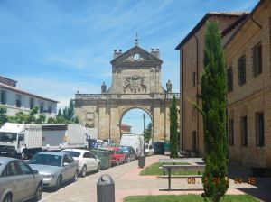 Arco San Benito and the Monasterio de Santa Cruz (Madres Benedictinas) on the right