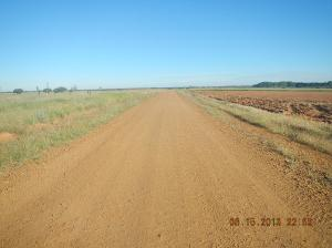 A much more barren road but it is not the Calzada Romana yet.