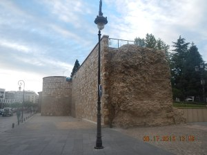 The only existing part of the old Roman wall