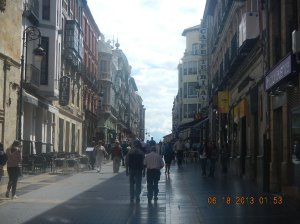 The Calle Ancha which leads you to the cathedral.