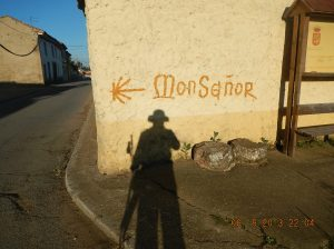 In the shadow of Monseñor or was he in my shadow?