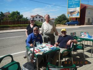 From left to right - Myself, Dena, Jude and Ian having a refreshment break in San Justo de La Vega.