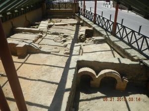 The Roman bath ruins