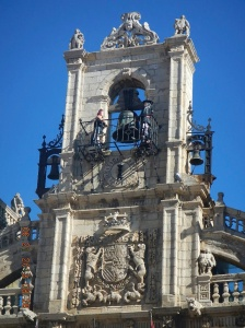 The ornate clock of the Ayuntamiento