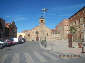 Plaza San Bartolomè with the Iglesia San Bartolomè in the backgroiund