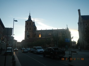 La Catedral de Santa Maria in the twilight.