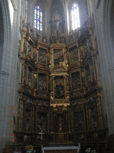 El retablo mayor by Gaspar Becerra built from 1558 to 1562.