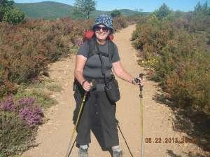 Sue enjoying the hike