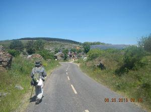 Chris heading toward Manjarín.
