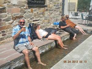 In case you're wondering both the beer and the flowing water were ice-cold!