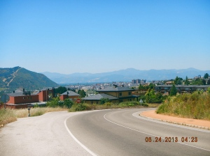 Ponferrada in the distance