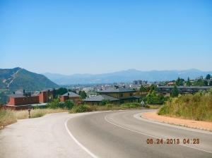 Ponferrada in the distance