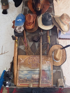 Furnishings of the Cowboy Bar where I met Sue