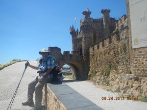 Me sitting in front of a Templar Castle in Ponferrada!!