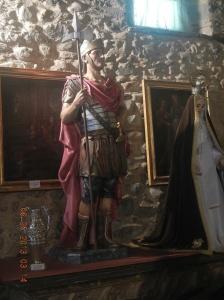 An old Roman friend inside the Ermita de San Roque