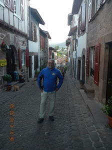 Me in St. Jean Pied de Port the day before starting my pilgrimage. My wife when she saw this picture commented that I looked so happy and she was right!