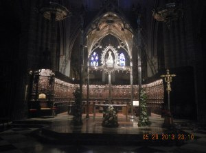 Pamplona Cathedral - where I attended a beautiful Pilgrim's Mass and received my first Pilgrim's Blessing before setting out towards Puente La Reina that day.