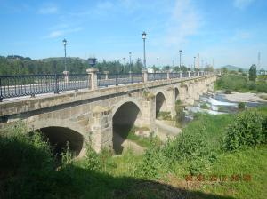 The Puente del Santo (that spans the río Oja)just outside of Santo Domingo de la Calzada.