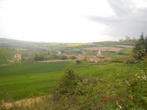Villafranca de Montes de Oca from the distance.