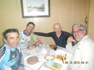 Cyclists from Madrid that I shared a great meal with in Hornillos del Camino. We became such fast friends that they would send me texts from ahead where they were to tell me about the great places to eat!