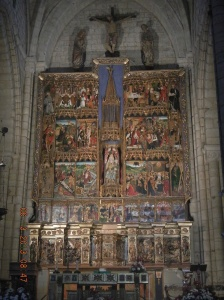 The beautiful 18th century Baroque retablo of the church.