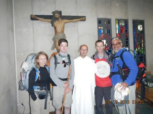 "Me and an Irish group at Iglesia La Virgen del Camino. This is a picture from one of the greatest moments I had on the Camino. to get the full story search for ""A Special Blessing"" on the search option (top of page)"