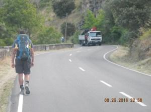 Manuel powering ahead of us just outside of Villafranca.