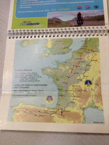 The route that both biked from Holland to Santiago and back!!