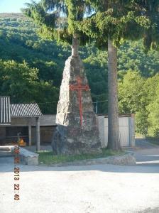 Monument at the end of town leading to the route to Samos