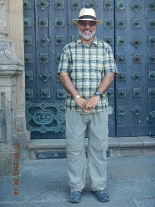 Me at the Cathedral door.
