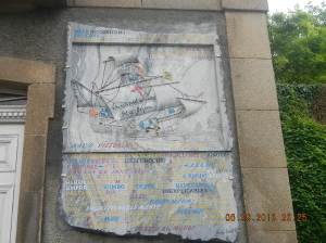 A plaque dedicated to a Galleon