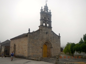 The Iglesia de San Salvador located at the top of the rúa Maior