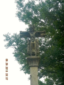 A Cross of the type that are all over Galicia. This one was in the Parque Do Bosque