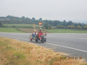 This husband and wife team were Dutch. You soon learned on the Camino that the Dutch were bike crazy!