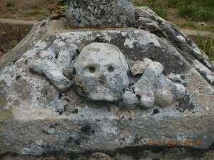 Bones representing death