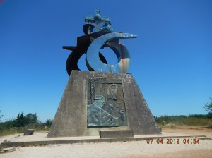 The monument to the Camino built for the 1993 Holy Year