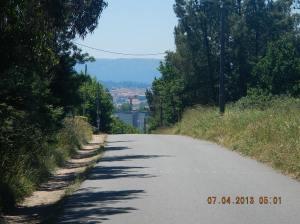 The way down into Santiago de Compostela!